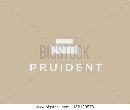 Creative premium furniture logo. Luxury universal interior design logotype idea symbol. Style negative space bed icon sign