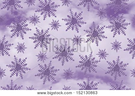 Purple Snowflake Tile Pattern Repeat Background that is seamless and repeats