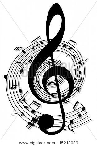 vector music notes design