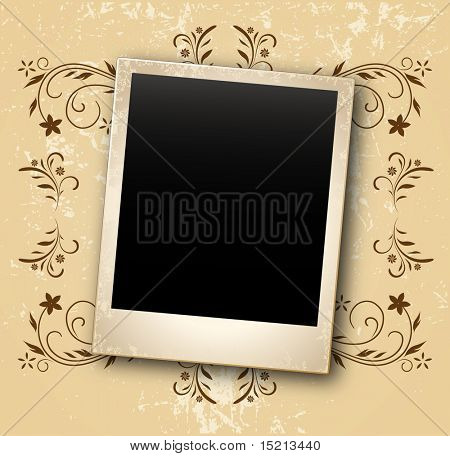 vintage background with photo card