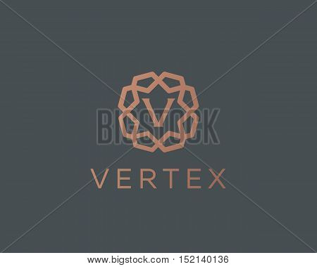 Premium letter V logo icon vector design. Luxury jewelry frame gem edge logotype. Print monogram initials stamp sign symbol