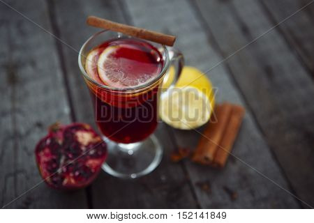 Closeup Of Mulled Wine