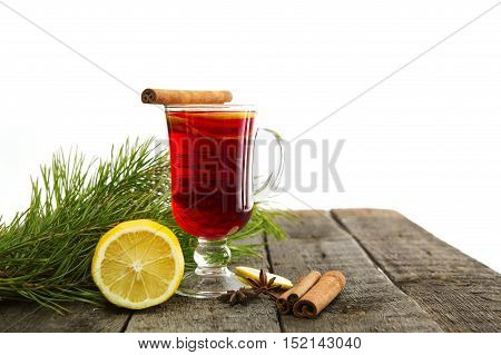 Glass Of Mulled Wine.