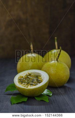 Fresh Passion Fruit And Half