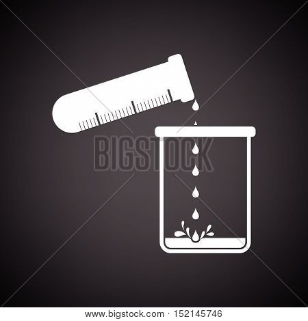 Icon Of Chemistry Beaker Pour Liquid In Flask