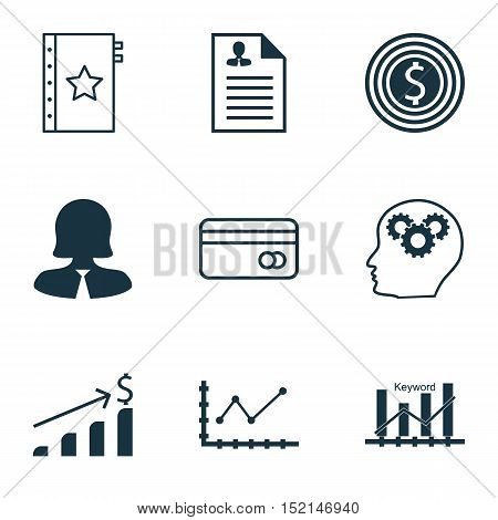 Set Of 9 Universal Editable Icons For Airport, Statistics And Marketing Topics. Includes Icons Such