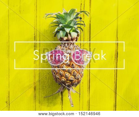 Spring Break Rest Relaxation Relief Season Concept
