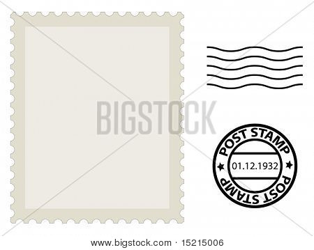 Post Stamp Template Vector  Photo  Bigstock