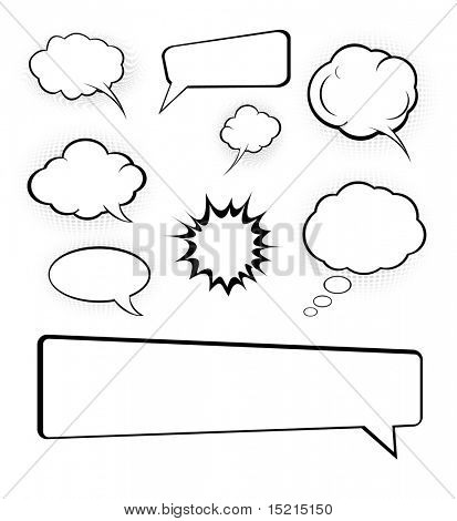 speech bubbles set poster