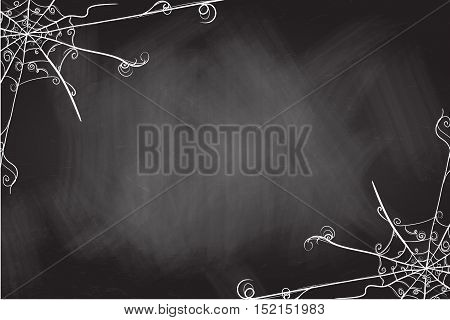 Halloween Abstract Background With Spiders Web