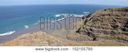 Long Black Sand Beach