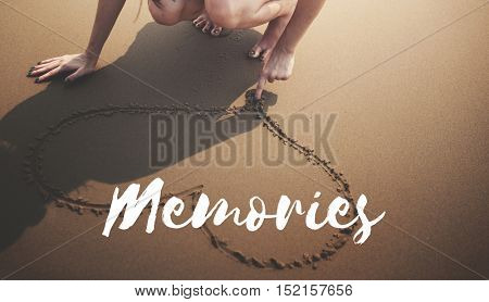 Summer Beach Break Vacation Freedom Memories Words Concept