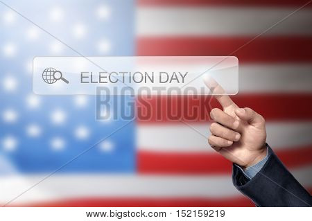 Man Hand Like To Search A Election Day