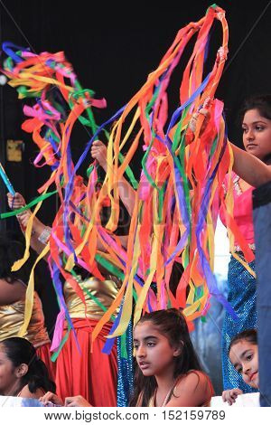 London UK. 16th October 2016. The Mayor of London Festival Of Dewali performers and scenes at Trafalgar Square