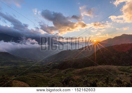 Clouds heaven in Vietnam, Ta Xua, Bac Yen, Son La