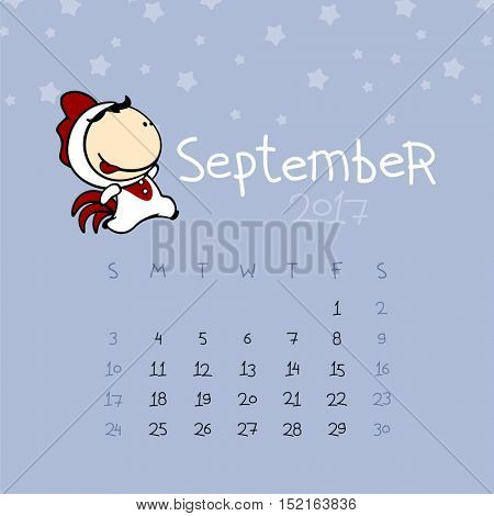 Calendar for the year 2017 - September