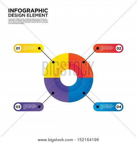 Infographic business report template layout design element vector illustration can be used for workflow layout and number