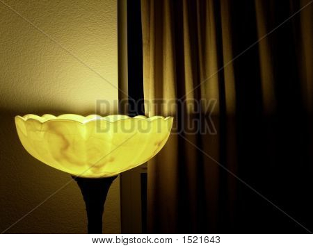 Lamp And Curtian