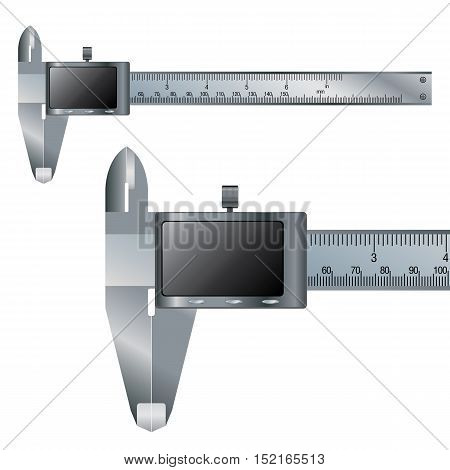 Vernier caliper digital electronic tool.  Business object and Construction tool.