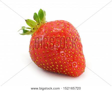 strawberry in studio on white background marco view closeup