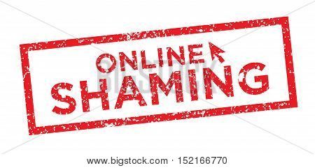 Online Or Public Shaming Graphic