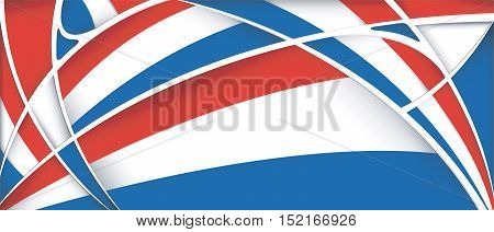 Abstract background with colors of Netherlands flag - Vector image