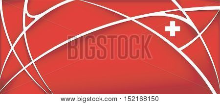 Abstract background with colors of Switzerland flag - Vector image