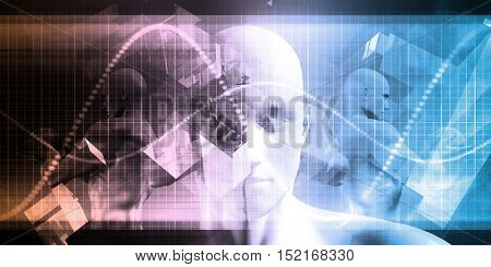 Business Technology Abstract Background with a Digital Theme 3d Illustration Render
