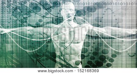 Medical Technology with Advanced Business Design Concept 3d Illustration Render