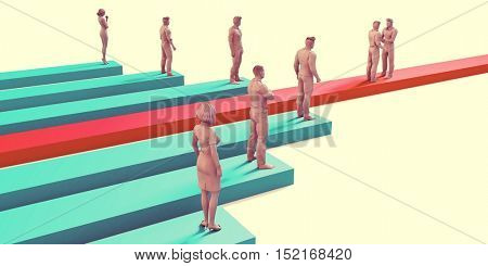 Business Development or Bizdev as a Corporate Concept 3d Illustration Render