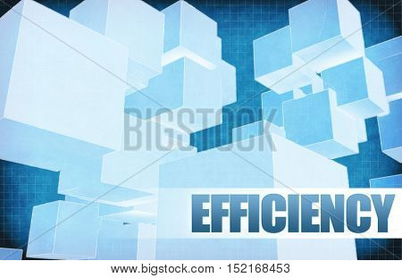 Efficiency on Futuristic Abstract for Presentation Slide 3d Illustration Render