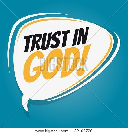 trust in god retro speech balloon