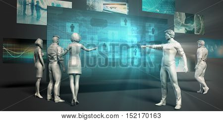 Location Mobile Service Concept with Virtual Presentation Background 3d Illustration Render