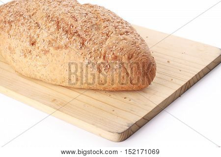Wheat Bread Isolated On White Background