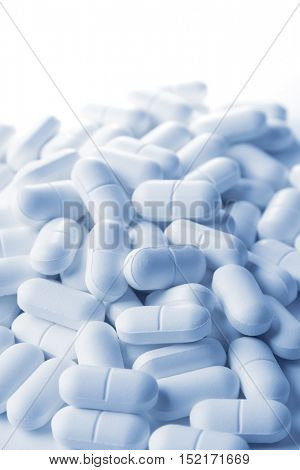 Pile of tablets closeup
