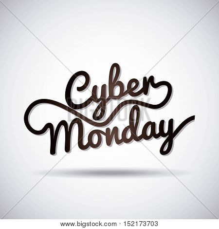 cyber monday sale commerce vector illustration design