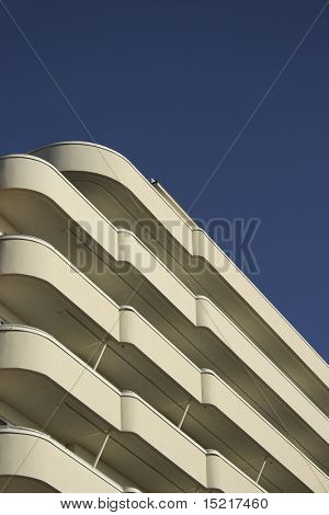 Art deco building facade.