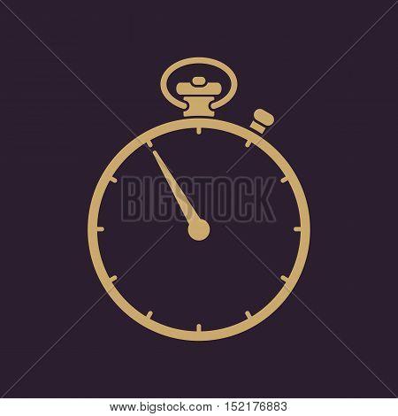 The stopwatch icon. Stopwatch symbol. Flat Vector illustration