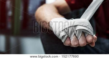 Boxer Hand Wraps Protection Knuckle Concept