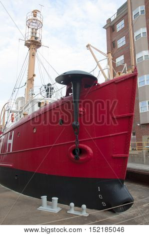 PORTSMOUTH, VA, USA - MAY 4: United States Lightship Portsmouth (LV-101), Portsmouth Naval Shipyard Museum on May 4th, 2012 in Portsmouth, Virginia, USA.