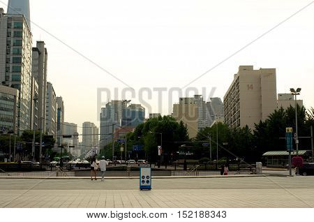 Olympic Park In Seoul In Summer, South Korea
