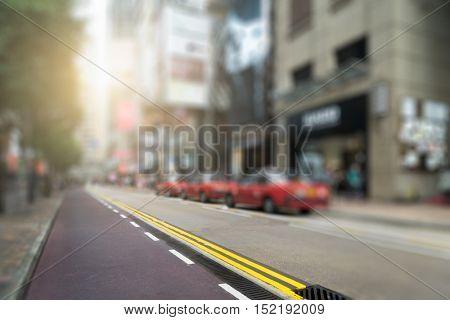 urban street of Hong Kong downtown district