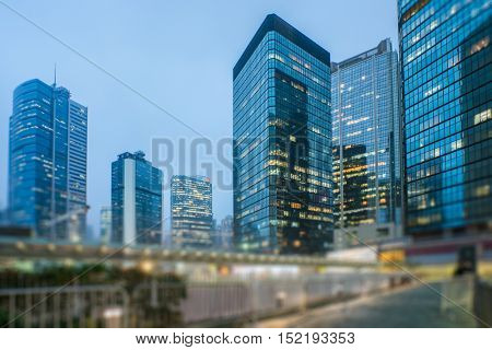 mdoern skyscrapers in central district of Hong Kong,china.