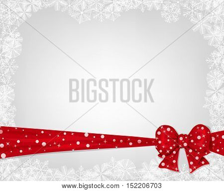 Christmas Background With Red Bow