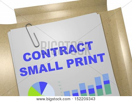 Contract Small Print Concept