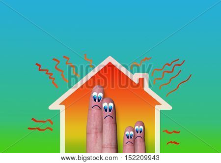 House With High Heat Loss And Fingers Family