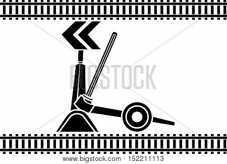 Switch arrows railway stencil illustration for web