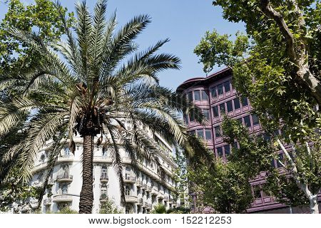 Barcelona (Catalunya Spain): buildings along the Avinguda Diagonal