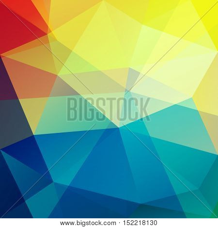 Colorful triangles - vibrant geometric background - eps 10 vector