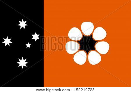 Flag of Northern Territory (NT) is a federal Australian territory in the centre and central northern regions